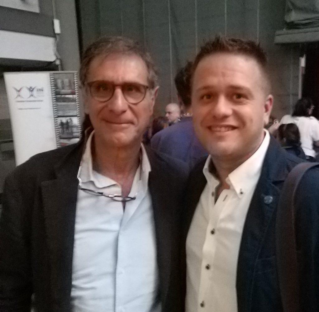 A sinistra Claudio Barbaro , a destra Il presidente ksa Yuri Ferrari