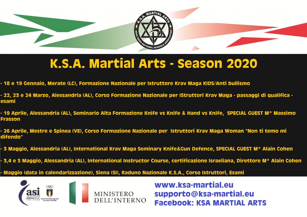 Eventi Gennaio/Giugno 2020